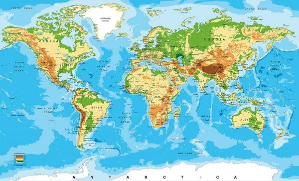 Karta svijeta geografska