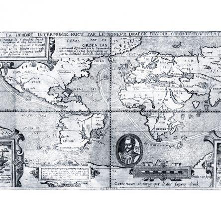 Karta svijeta, Sir Francis Drake 1581.