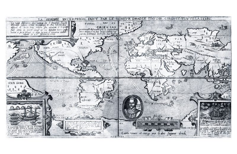 Sir Francis Drake World Map - 1581