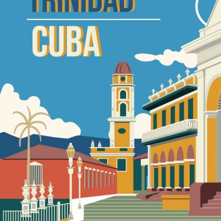 Retro promotional Trinidad Cuba