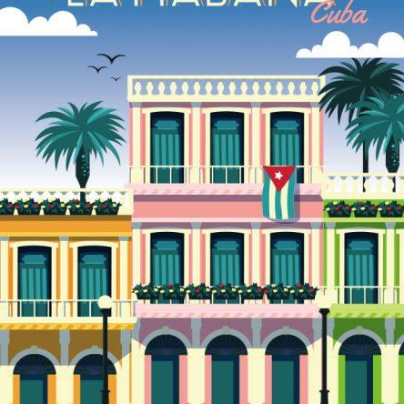 Retro promotional Havana Cuba