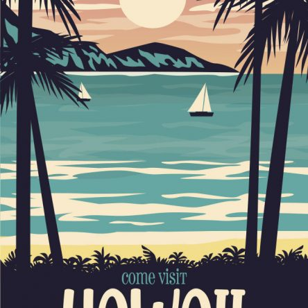 Retro promotional Hawaii