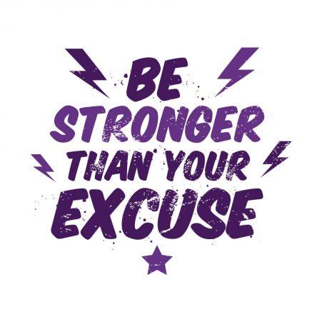 Be stronger..