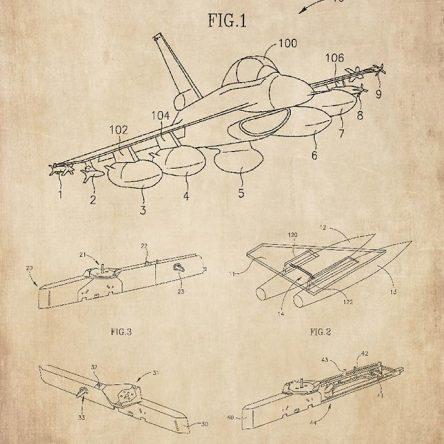 Patent, avion F-16